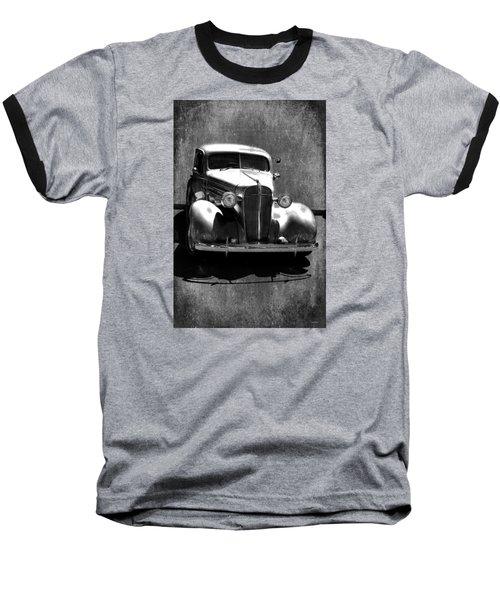 Vintage Car Art 0443 Bw Baseball T-Shirt by Lesa Fine