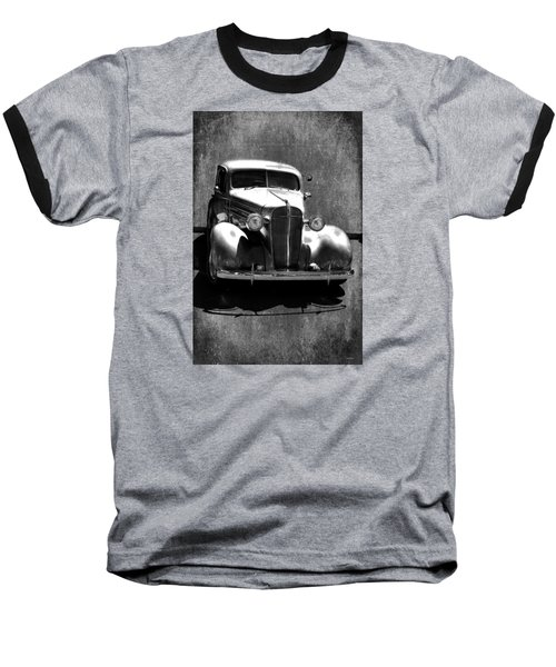 Vintage Car Art 0443 Bw Baseball T-Shirt