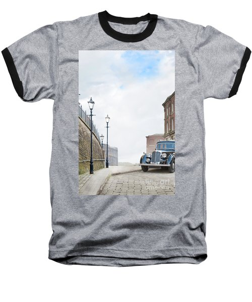 Vintage Car Parked On The Street Baseball T-Shirt by Lee Avison