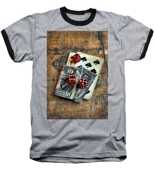 Vintage Cards Dice And Cash Baseball T-Shirt
