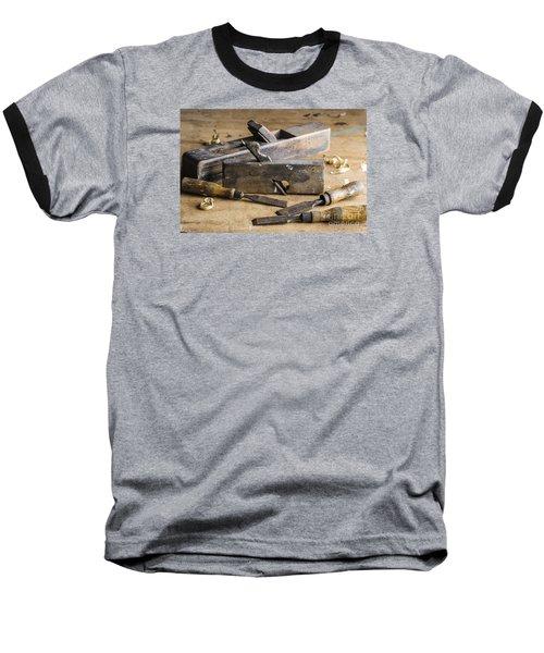 Vintage Carpentry Bench Baseball T-Shirt by Trevor Chriss