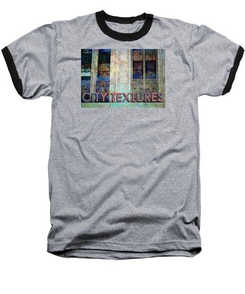 Vintage City Textures Baseball T-Shirt by John Fish