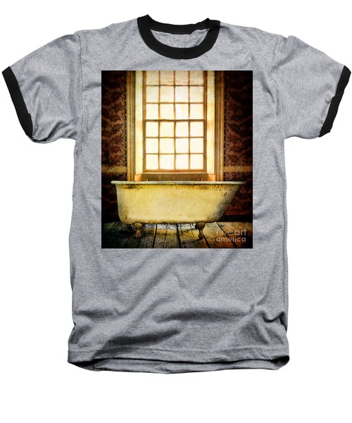 Vintage Clawfoot Bathtub By Window Baseball T-Shirt
