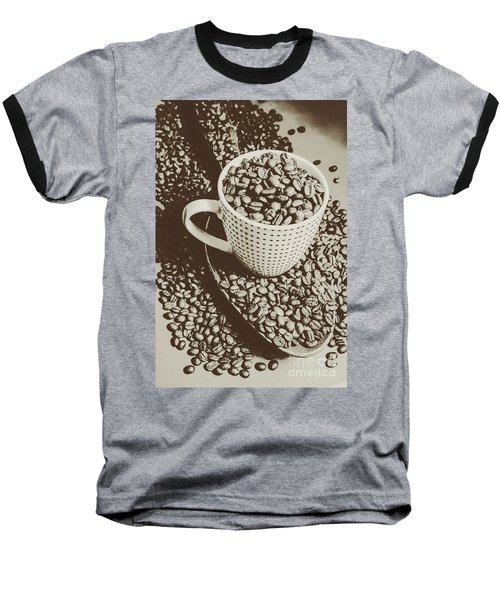 Baseball T-Shirt featuring the photograph Vintage Coffee Art. Stimulant by Jorgo Photography - Wall Art Gallery