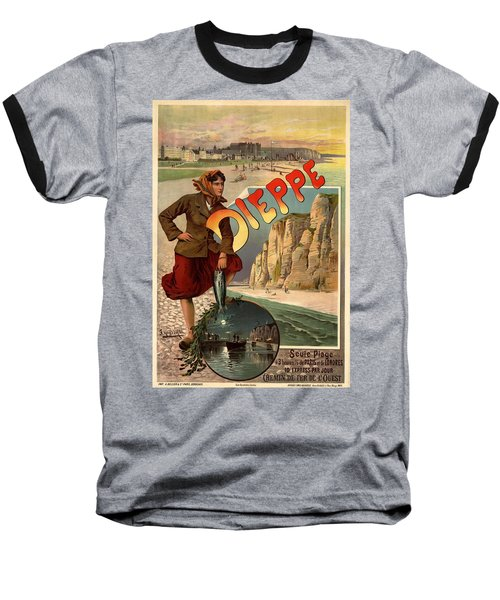 Vintage Dieppe Advertisement Baseball T-Shirt by Andrew Fare