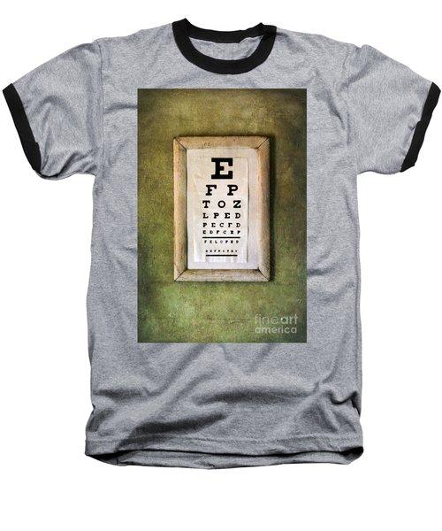 Vintage Eye Chart Baseball T-Shirt