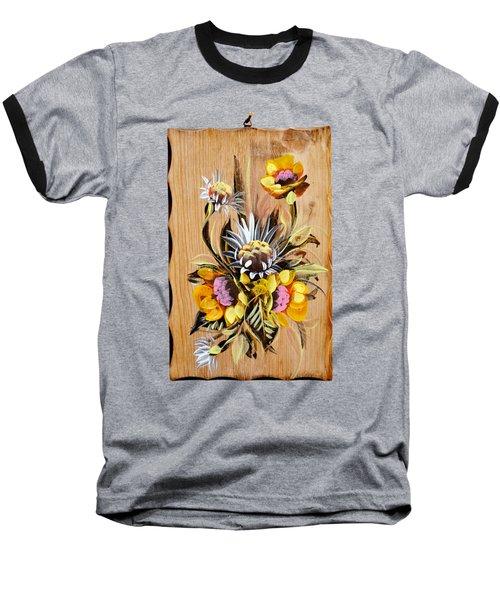 Vintage Floral Bouquet Baseball T-Shirt