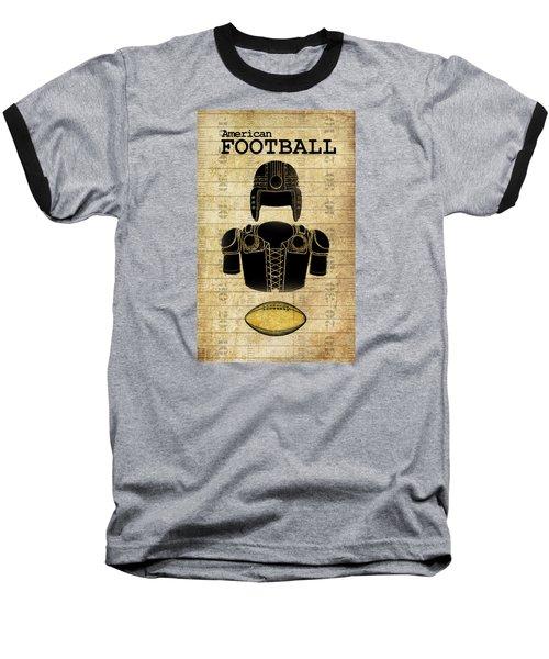 Vintage Football Print Baseball T-Shirt