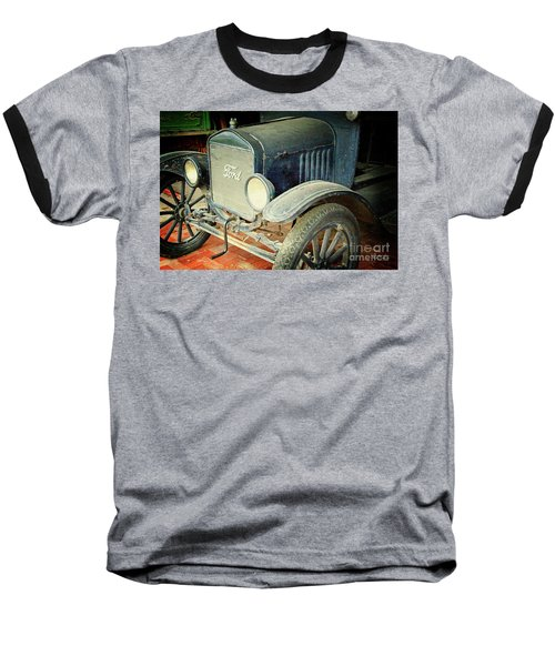 Vintage Ford Baseball T-Shirt by Inspirational Photo Creations Audrey Woods