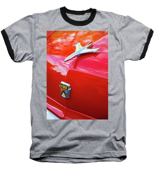 Baseball T-Shirt featuring the photograph Vintage Ford Hood Ornament Havana Cuba by Charles Harden