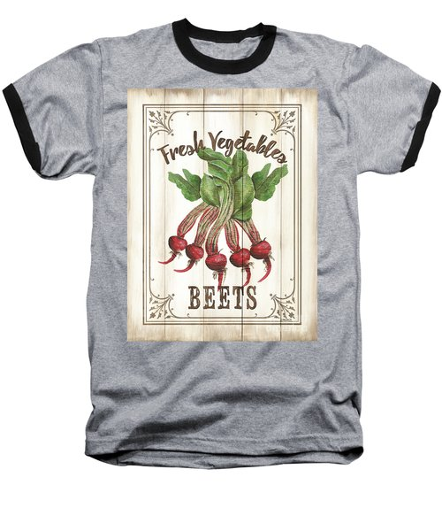 Baseball T-Shirt featuring the painting Vintage Fresh Vegetables 1 by Debbie DeWitt