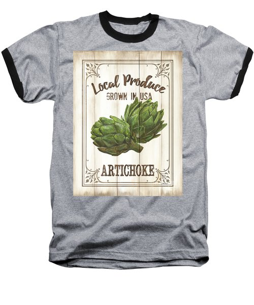 Vintage Fresh Vegetables 2 Baseball T-Shirt