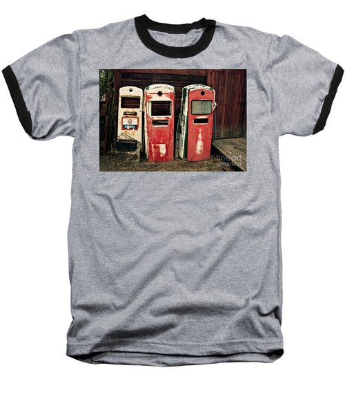 Vintage Gas Pumps Baseball T-Shirt