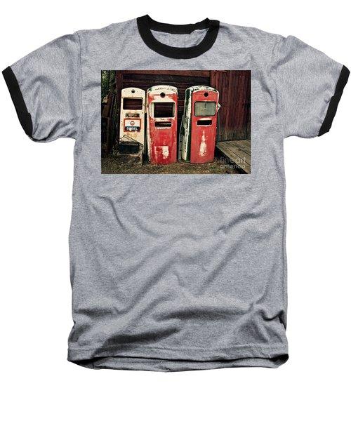 Vintage Gas Pumps Baseball T-Shirt