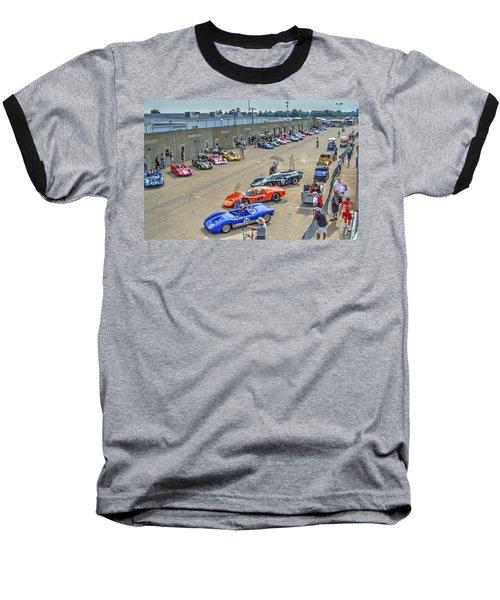 Vintage Gasoline Alley  Baseball T-Shirt by Josh Williams