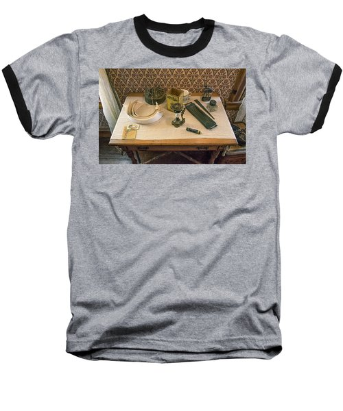 Baseball T-Shirt featuring the photograph Vintage Gentlemen's Preparation Table by Gary Slawsky
