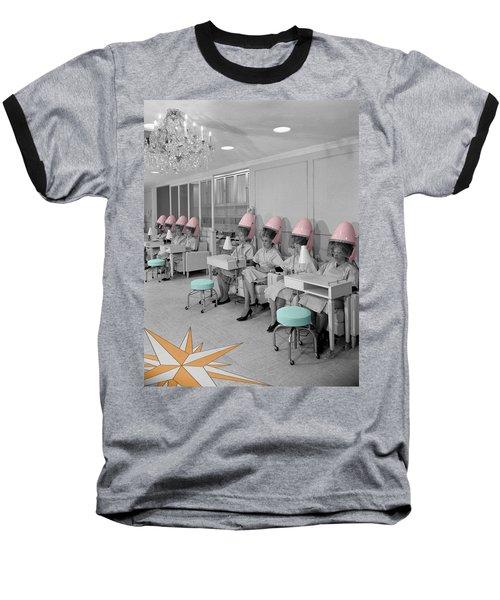 Vintage Hair Salon Baseball T-Shirt