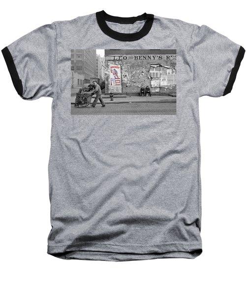 Vintage Hockey Poster Baseball T-Shirt