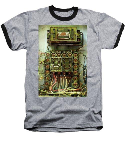 Vintage Household Fuse Box Baseball T-Shirt