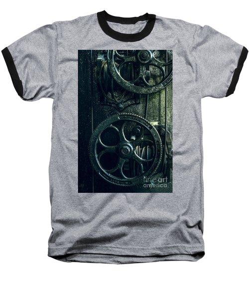 Vintage Industrial Wheels Baseball T-Shirt