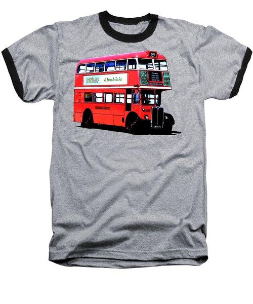 Vintage London Bus Tee Baseball T-Shirt by Edward Fielding