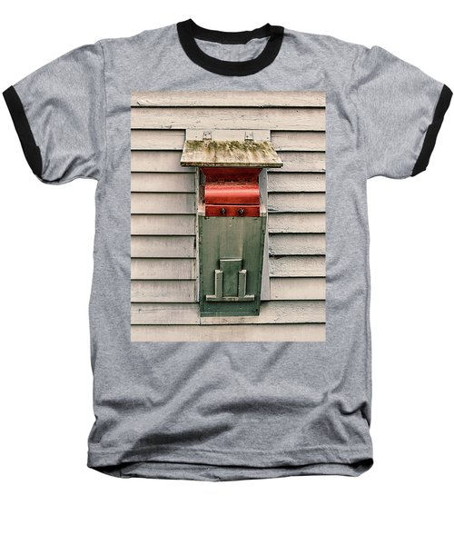 Baseball T-Shirt featuring the photograph Vintage Mailbox by Gary Slawsky