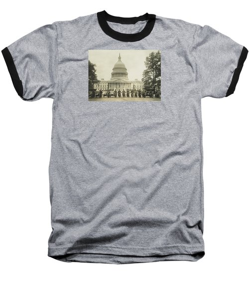 Vintage Motorcycle Police - Washington Dc  Baseball T-Shirt by War Is Hell Store