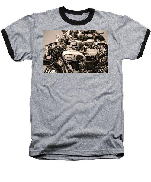 Vintage Motorcycles Baseball T-Shirt