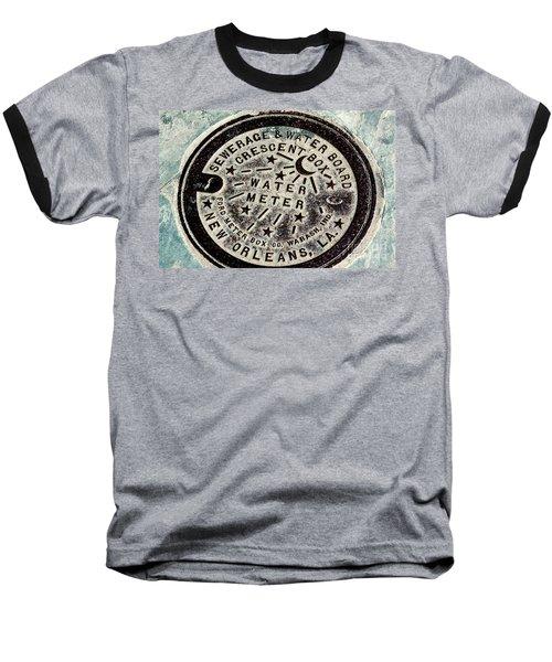 Vintage New Orleans Water Meter Baseball T-Shirt