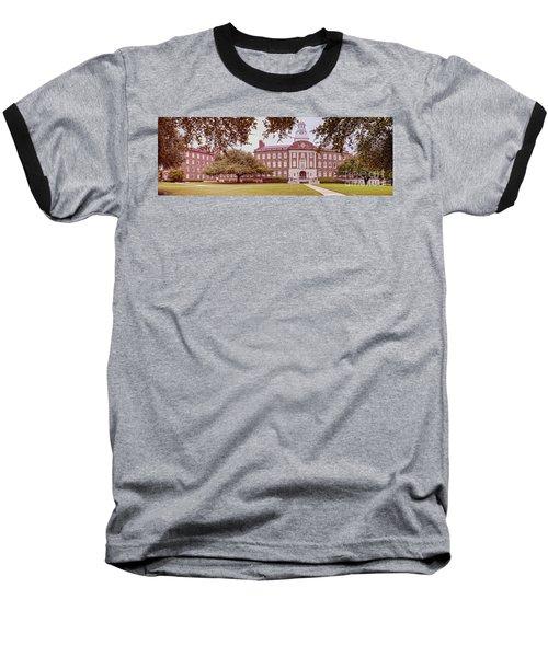 Vintage Panorama Of The Fondren Science Building At Southern Methodist University - Dallas Texas Baseball T-Shirt
