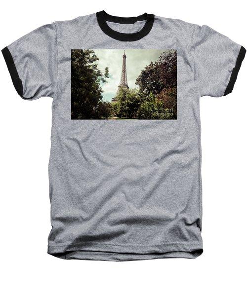 Vintage Paris Landscape Baseball T-Shirt