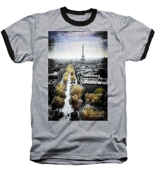 Vintage Paris Baseball T-Shirt