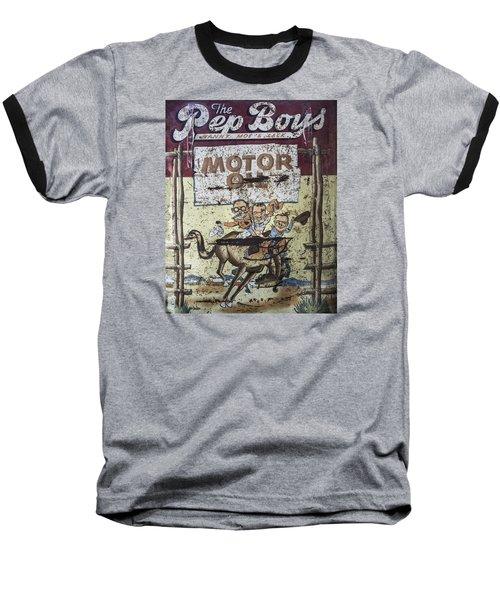 Vintage Pep Boys Sign Baseball T-Shirt