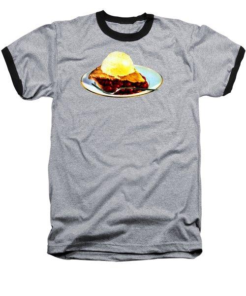 Vintage Pie A La Mode Baseball T-Shirt by Historic Image