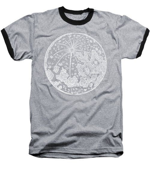 Vintage Planet Tee Blue Baseball T-Shirt by Edward Fielding