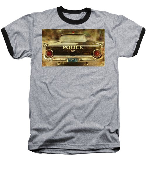 Vintage Police Car - Baltimore, Maryland Baseball T-Shirt