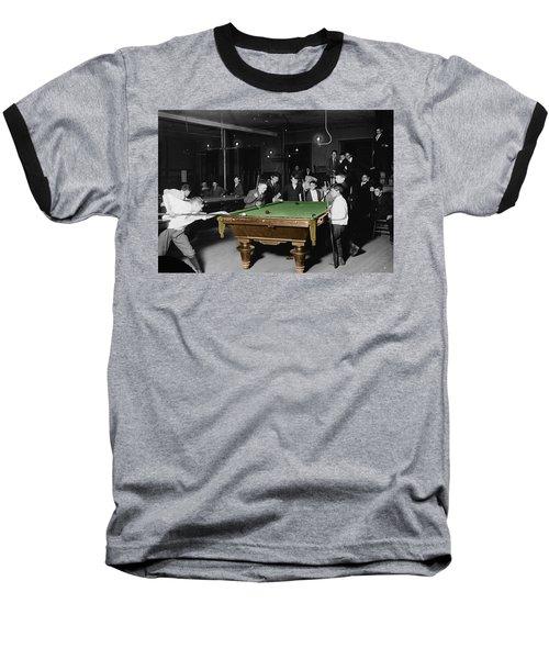 Vintage Pool Hall Baseball T-Shirt