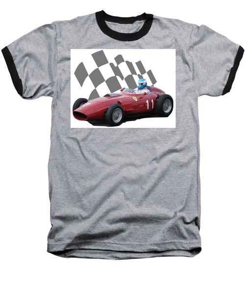 Vintage Racing Car And Flag 2 Baseball T-Shirt