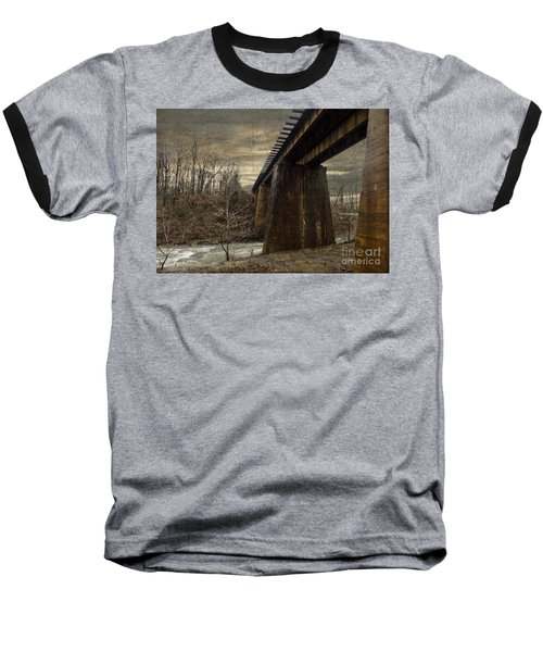 Vintage Railroad Trestle Baseball T-Shirt