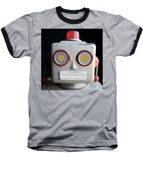 Vintage Robot Square Baseball T-Shirt