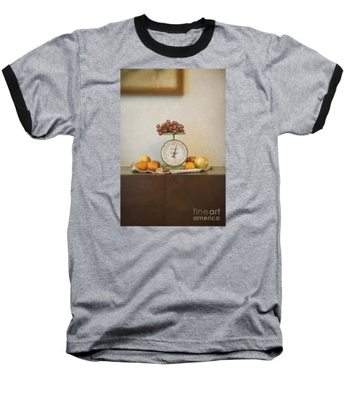 Vintage Scale And Fruits Painting Baseball T-Shirt