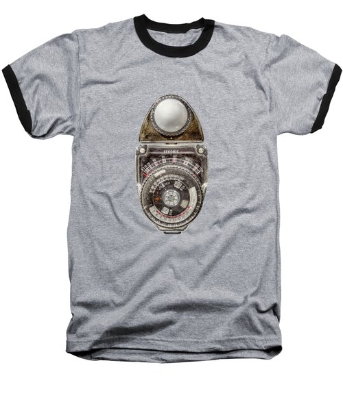 Vintage Sekonic Deluxe Light Meter Baseball T-Shirt by YoPedro
