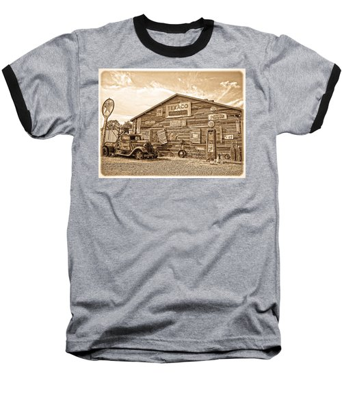 Vintage Service Station Baseball T-Shirt