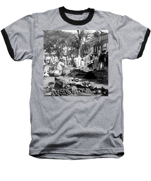 Vintage Street Scene In Ponce - Puerto Rico - C 1899 Baseball T-Shirt by International  Images