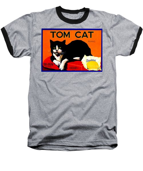 Vintage Sunkist Tom Cat Baseball T-Shirt by Peter Gumaer Ogden