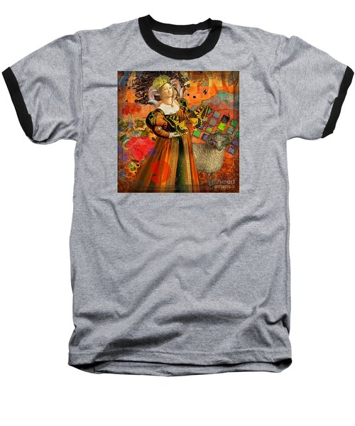 Vintage Taurus Gothic Whimsical Collage Woman Fantasy Baseball T-Shirt