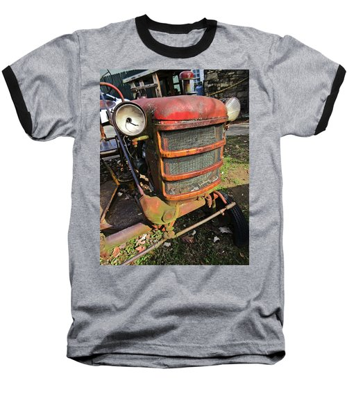 Vintage Tractor Mower Baseball T-Shirt