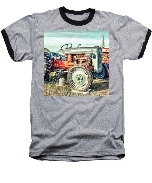 Vintage Tractors Pei Square Baseball T-Shirt