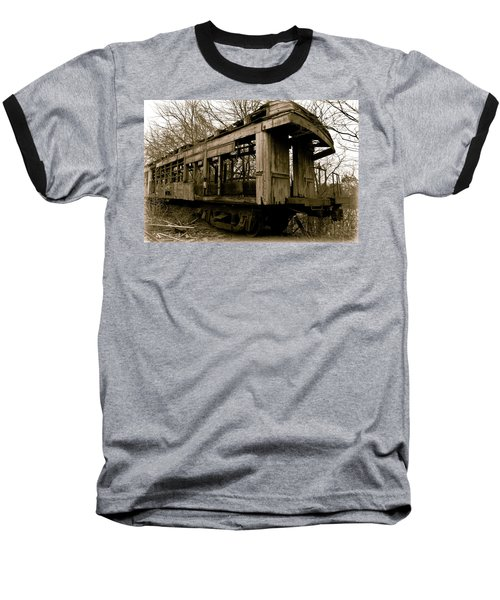 Vintage Train Baseball T-Shirt