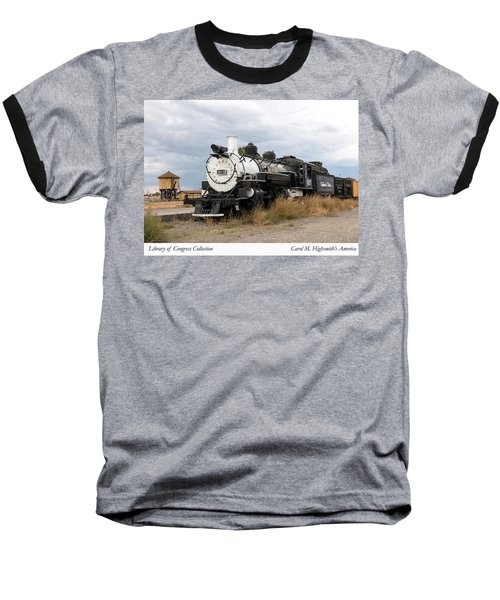 Vintage Train At A Scenic Railroad Station In Antonito In Colorado Baseball T-Shirt